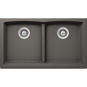 B326 - Slate Grey Low Divide Granite Sink