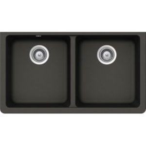 B327 Virtuo Granite Asphalt Double Bowl