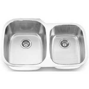 B414 16 Gauge Stainless Double Sink
