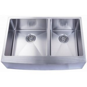 B924 Apron Front Double Sink with 15mm Radius Corners