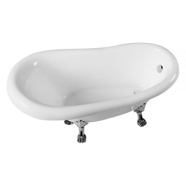 "65"" Freestanding Clawfoot Acrylic Tub"