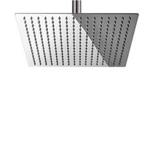 "12"" Square Brushed Nickel Rain Shower Head"