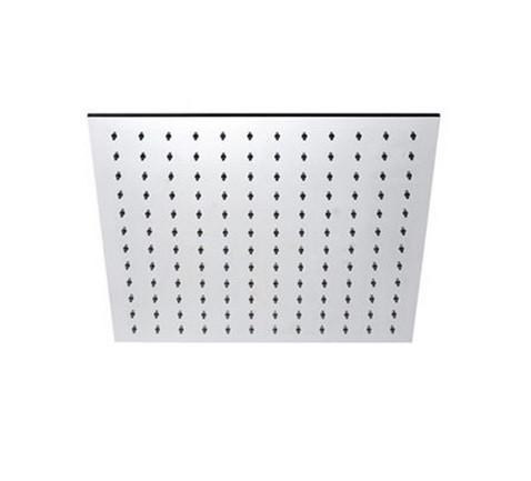 "16"" Square Brushed Nickel Rain Shower Head"